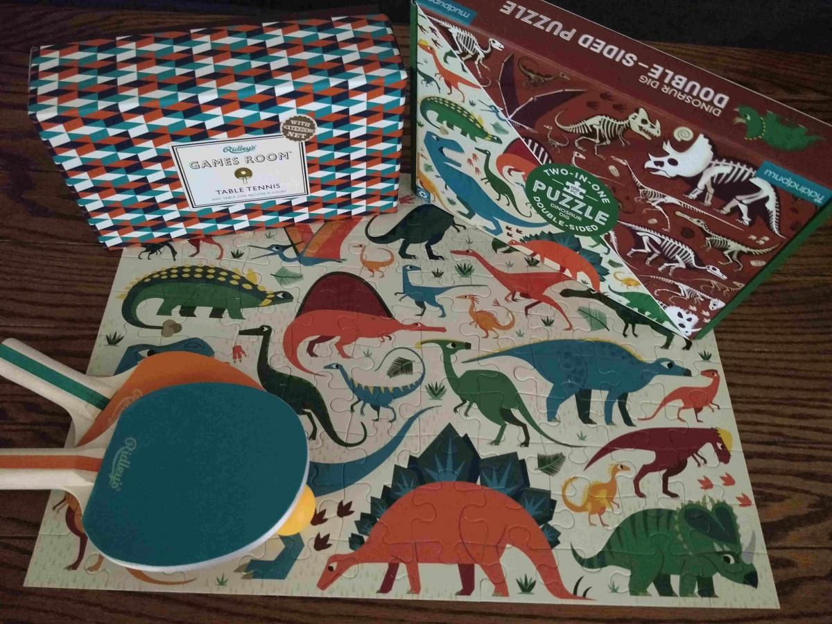 Puzzles & ping pong from the Autry Shop